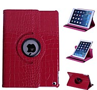 Crocodile Style 360 Degree Rotating Stand Leather Case for iPad Air 2 (Assorted Colors)