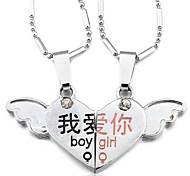 the Wings of Love Couples Necklace