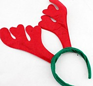 Christmas Red Flush Buckhorn Headband(12pcs)