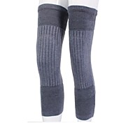 Soft / Elasticity Thicken Cashmere Wool Knee Warmer Supporter - Gray (Pair)