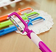 Candy Color Multi-functional Stainless Steel Material of Fruit Vegetable Peeler(Random Color)