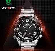 dos homens weide® mostrador redondo de aço completo relógio banda movimento Miyota 30 metros relógio de pulso à prova d'água (cores sortidas)
