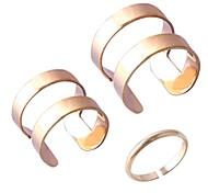 glatte dreiteilige Ring