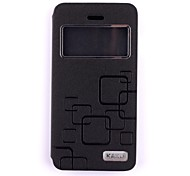 Protective Flip Open PU Leather + PC Case Cover w/ Window for iPhone 6