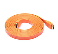 2M 6.56FT HDMI V1.4 Male to Male Flat HDMI HD PC TV Connector Cable Support 3D