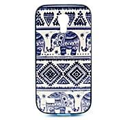 2-in-1 kleiner Elefant Muster TPU rückseitige Abdeckung mit pc autostoßfest weiche Tasche für Samsung Galaxy S4 Mini i9190