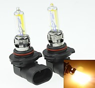 2x 9006 HB4 P22D  80W Plated Yellow for Car Headlights Headlights Fog Lights 12V