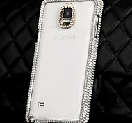 Fashion Diamond Transparent PC Case for Samsung Galaxy Note 4