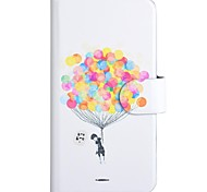 The Balloon Pattern PU Mobile Phone Holster With Card Slot for Samsung Galaxy Core 2 G3558/G3559