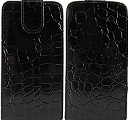 Crocodile Solid Color Pattern Open Up and Down PU Leather Full Body Case for Samsung Galaxy S I9000