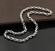 titanio de la moda collar de cadena de acero de los hombres