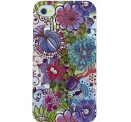 bloempatroon pc Hard Cover Case voor iPhone 4 / 4s