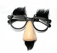 Funny Elder's Glasses Nose / Brow - Beige +Black