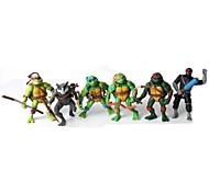 versão q Ninja Turtles figuras de ação de movimento articular definir brinquedos (6pcs)
