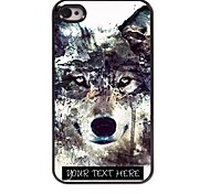 Personalized Phone Case - Iceberg Wolf Design Metal Case for iPhone 4/4S