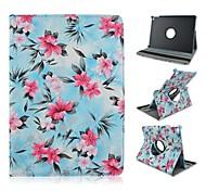 moda flores pintadas pu tablet proteger caso com suporte para o ipad 2 ar