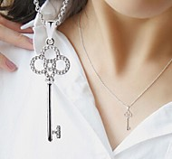 The Key Necklace Jewelry,in 925 Sterling Silver Necklace Jewelry,Cubic Zirconia Necklace,Women's Necklace Jewelry