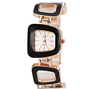 Women's Square Alloy Band Quartz Wrist Watch (Assorted Colors)