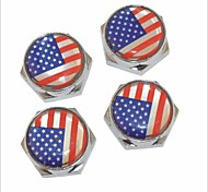 DIY American Flag Pattern Universal Metal License Plate Bolt Screw Caps for Car