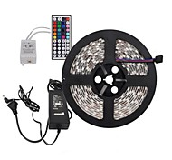 5M 300X5050 SMD RGB LED Strip Light and 44Key Remote Controller and 6A US Power Supply (AC110-240V)