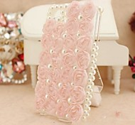 Bud Silk for Rose with Pearl Hard Back Cover  for iPhone 4 / iPhone 4S  (Assorted Colors)