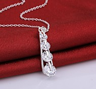 Fashion Zircon AAA Electroplating Ms 925 Silver Necklace