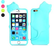 Lovely Deere Diffie Cat Shaped Design Silicone Soft Case with Dust Plug for iPhone 6 (Assorted Colors)