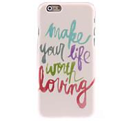 hacer que la vida vale la pena vivir caso duro del diseño para el iPhone 6 Plus