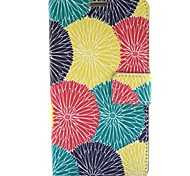 Colorful Sun Flower Pattern PU Leather Case with Stand Card for Samsung Galaxy Note3 N9000