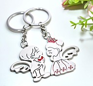 Personalized Engraving Angel Metal Couple Keychain