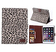 Leopard Pattern  PU Leather Case with Card Holder Stand Cover for Apple iPad mini 3/2(Assorted Colors)