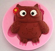 Small Owl Animal Shaped Fondant Cake Chocolate Silicone Mold