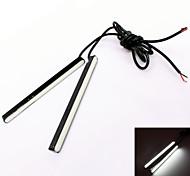 GC ® 2pcs 12.5cm 9w 32x3528smd 900lm 6000k weißes Licht führte für Auto Tagfahrlicht (DC 12V)