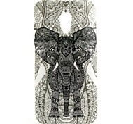 Elephant Pattern TPU Soft  Cover for Motorola Moto G2