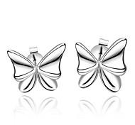 Ms Fashion Beautiful Butterfly Silver Earrings