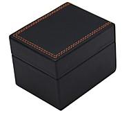 alta gama pu caixa de relógio de estilo (preto)