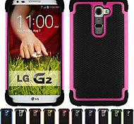 Two-in-One Football Grain Design PC and Silicone Case for LG G2 (Assorted Colors)