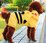 Lovely Yellow Pikachu Coral Fleece Clothes for Pet Dog(Assorted Sizes)