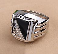 Korean Style Enamel Men's Statement Ring Jewelry