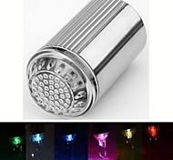 rc-d2 jet d'eau élégant coloré lumineux lumière robinet led (plastique, finition chrome)