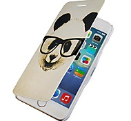 Glasses Panda Magnetic Flip Full Body Case with Hole for iPhone 6