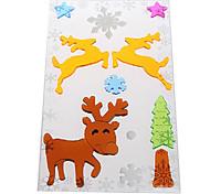 Deer Door/Window/Wall Stickers Christmas Decorations