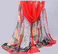 langen roten Schönheitsmuster Schalfrauen