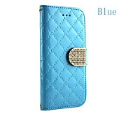 Fashion Squares Chain Design PU Leather Full Body Case with Card Slot Cover for iPhone 4/4S(Assorted Colors)