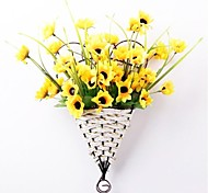 "13.7""H European Style Sunflowers in Basket Hanging on The Wall"