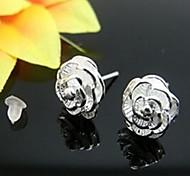 925  Women's Floral Print Earrings