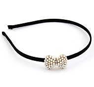Fashion Lady Pearl Bow Hair Band