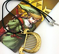 Jewelry Inspired by The Legend of Zelda Cosplay Anime/ Video Games Cosplay Accessories Necklace Golden Alloy Male