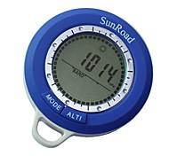multifunzione waterpoof mini altimetro digitale barometro termometro meteo tempo meteo bussola