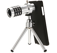 12x Direct Telescope Lens for Note4 with Tripod and Black Back Case